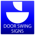 Door Swing Signs