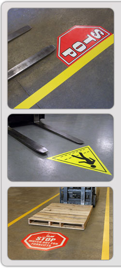DuraStripe Peel-&-Stick Floor Signs