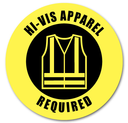 hi-vis apparel required