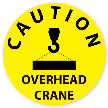 caution overhead crane