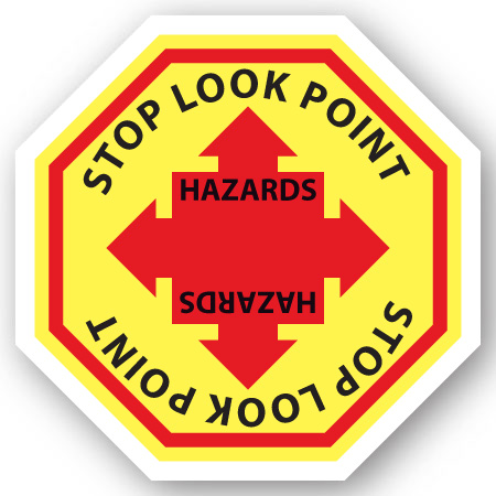 stop look point hazards