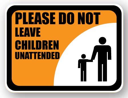 do not leave children